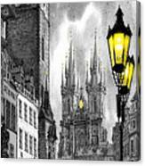 Bw Prague Old Town Squere Canvas Print