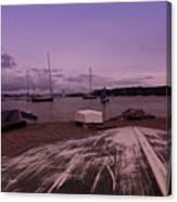 Canadian Harbor At Dusk  Canvas Print
