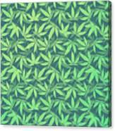 Cannabis   Hemp  420   Marijuana  Pattern Canvas Print