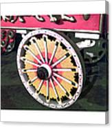 Circus Wagon Wheel Canvas Print