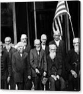 Civil War Veterans October 8 1923 Black White Canvas Print