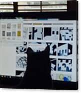 Critic Cat Canvas Print