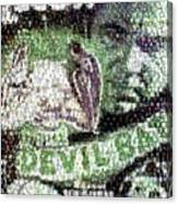 Devil Bat Movie Poster Horror Mosaic Canvas Print