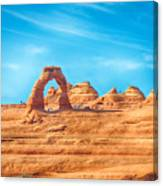 Famous Delicate Arch In Arches National Park Canvas Print