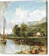 Fishing On The Estuary Canvas Print