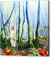 Forest Of Divine Light Canvas Print