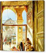 Gate Of The Great Mosque. Damascus Canvas Print