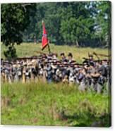 Gettysburg Confederate Infantry 9270c Canvas Print