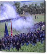 Gettysburg Union Artillery And Infantry 7496c Canvas Print