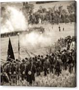 Gettysburg Union Artillery And Infantry 7496s Canvas Print