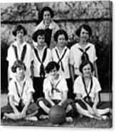 Girls High School Basketball Team 1910s Black Canvas Print