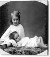 Girls Posing June 30 1905 Black White 1900s Canvas Print