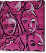 Girls Think Pink  Canvas Print