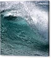 Green Cresting Wave, Hawaii Canvas Print