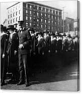 Group Women Females In Navy Circa 1918 Black Canvas Print