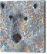 Holiday Hearts Polar Bear Canvas Print