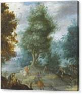 Hunting With Hounds Canvas Print