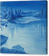 Idaho Lakeside Night Canvas Print
