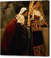 Italian Women From Abruzzo  Canvas Print