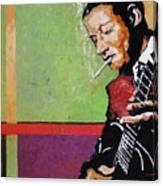 Jazz Guitarist Canvas Print