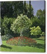 Jeanne Marie Lecadre In The Garden Canvas Print