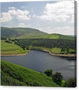 Kinder Reservoir From White Brow Canvas Print