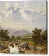 Landscape Near Abtenau Canvas Print