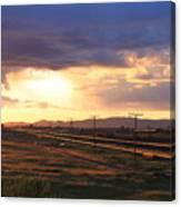 Last Light On The Railroad Canvas Print