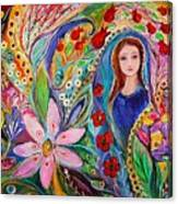 Leah And Flower Of Mandragora Canvas Print