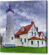 Lighthouse At Point Iroquois Canvas Print
