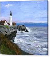 Lighthouse South Portland Me  Canvas Print