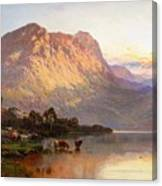 Loch Lomond And A Trout Stream Canvas Print
