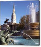 London - Trafalgar Square  Canvas Print