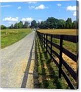 Long Fence For A Long Road Canvas Print
