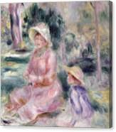 Madame Renoir And Her Son Pierre Canvas Print