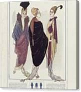Manteau De Velours Bleu Canvas Print