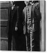Men Males In Suits Standing Doorway June 1927 Canvas Print