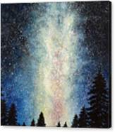 Milky Way At Night Canvas Print