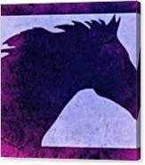 Mindy's Purple Horse  Canvas Print