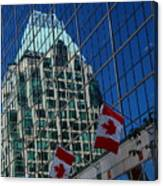 Modern Architecture - City Reflection Vancouver  Canvas Print