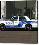 Montreal Police Car Poster Art Canvas Print