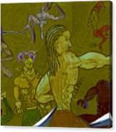 Ninja War Canvas Print