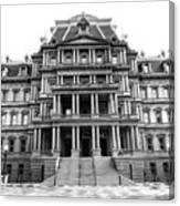 Old Executive Office Building Bw Canvas Print