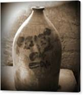 Old Time Jug In Sepia Canvas Print