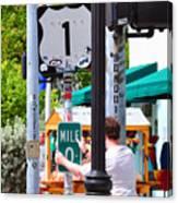 # One Stolen Sign Key West  Canvas Print