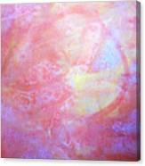 5. Orange, Red, And Yellow 'sun' Glaze Painting Canvas Print