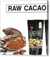 Organic Unroasted Cacao Powder Canvas Print