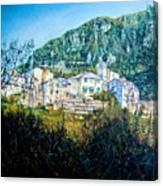 Papigno Village Canvas Print