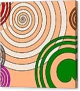 Peach And Curves Canvas Print