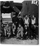 Pilot Crew W Airplane Nightmare 19411945 Black Canvas Print